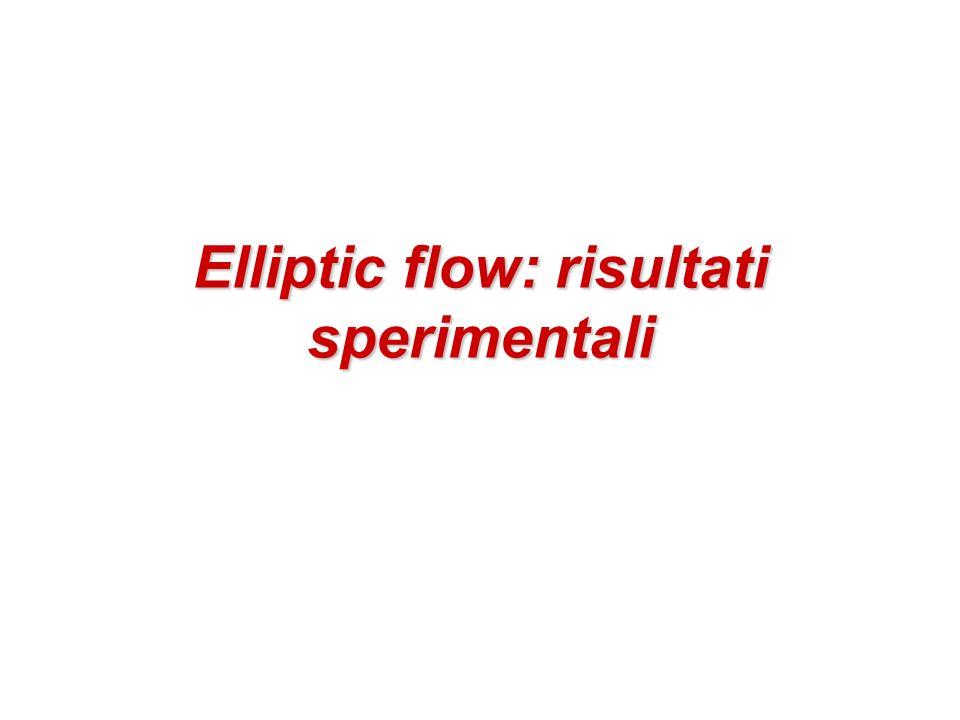 Elliptic flow: risultati sperimentali