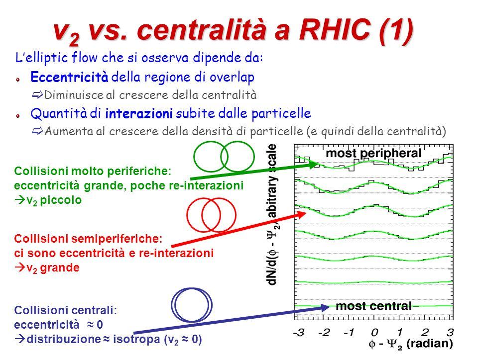 v2 vs. centralità a RHIC (1)