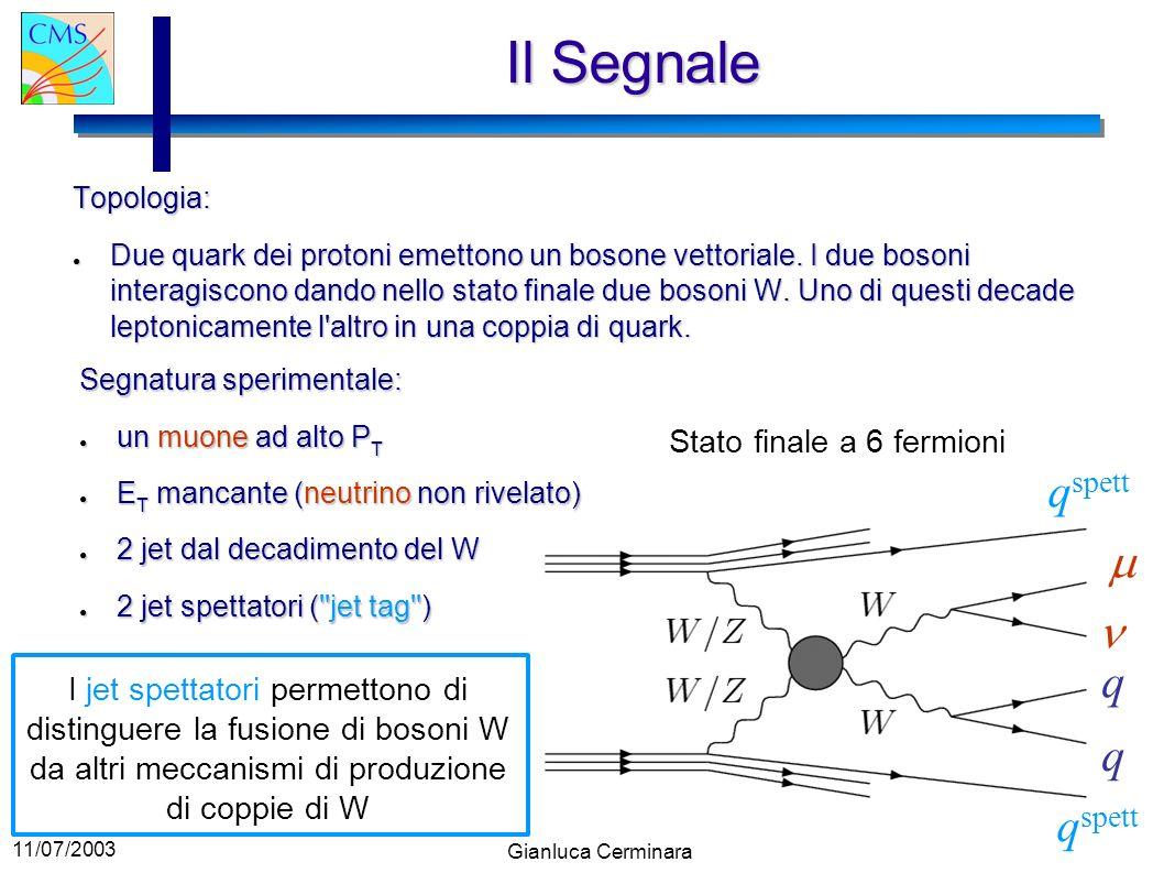 Il Segnale qspett m n q q qspett Stato finale a 6 fermioni