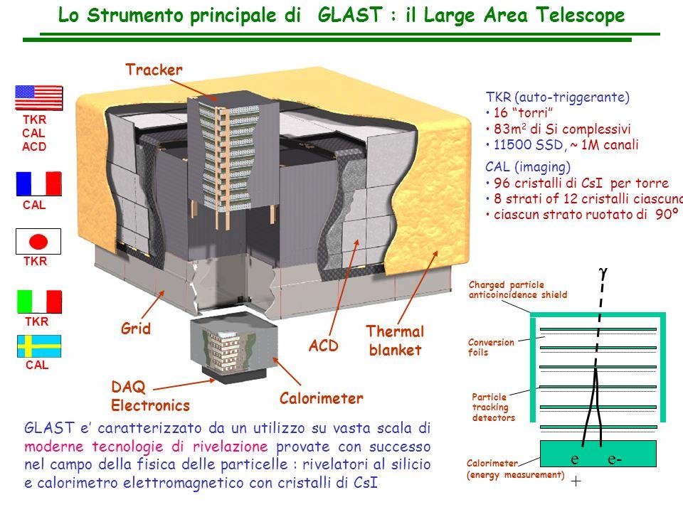 Lo Strumento principale di GLAST : il Large Area Telescope