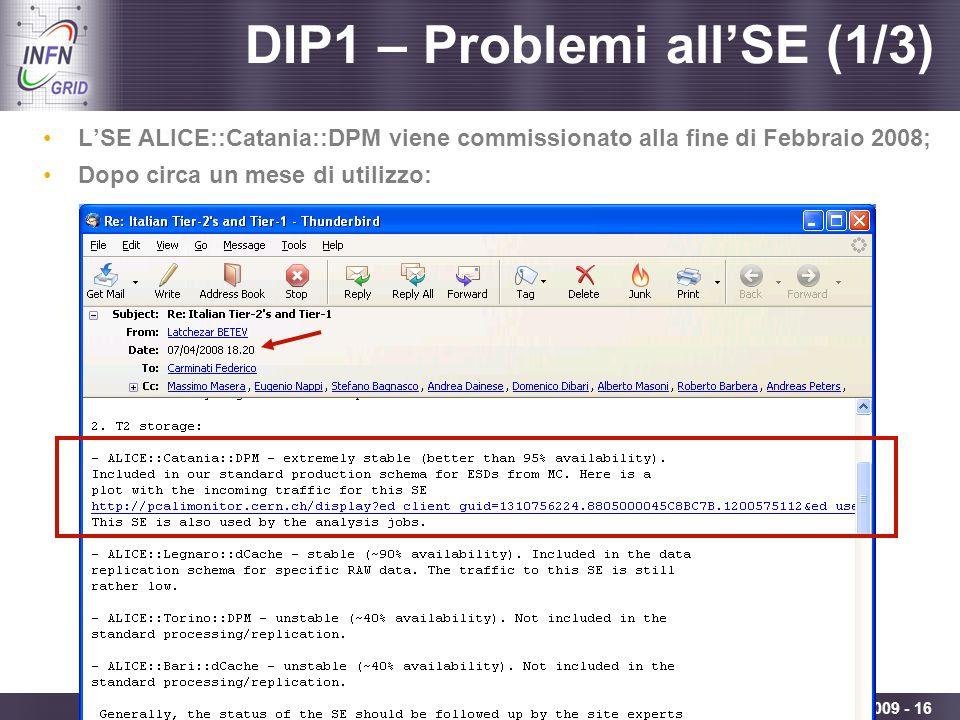 DIP1 – Problemi all'SE (1/3)
