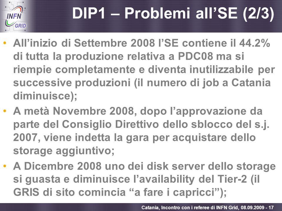 DIP1 – Problemi all'SE (2/3)