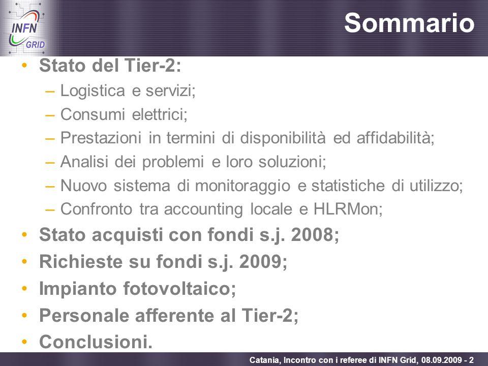 Sommario Stato del Tier-2: Stato acquisti con fondi s.j. 2008;
