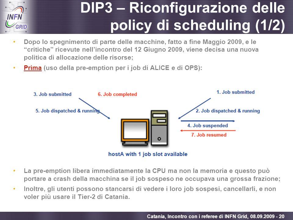 DIP3 – Riconfigurazione delle policy di scheduling (1/2)