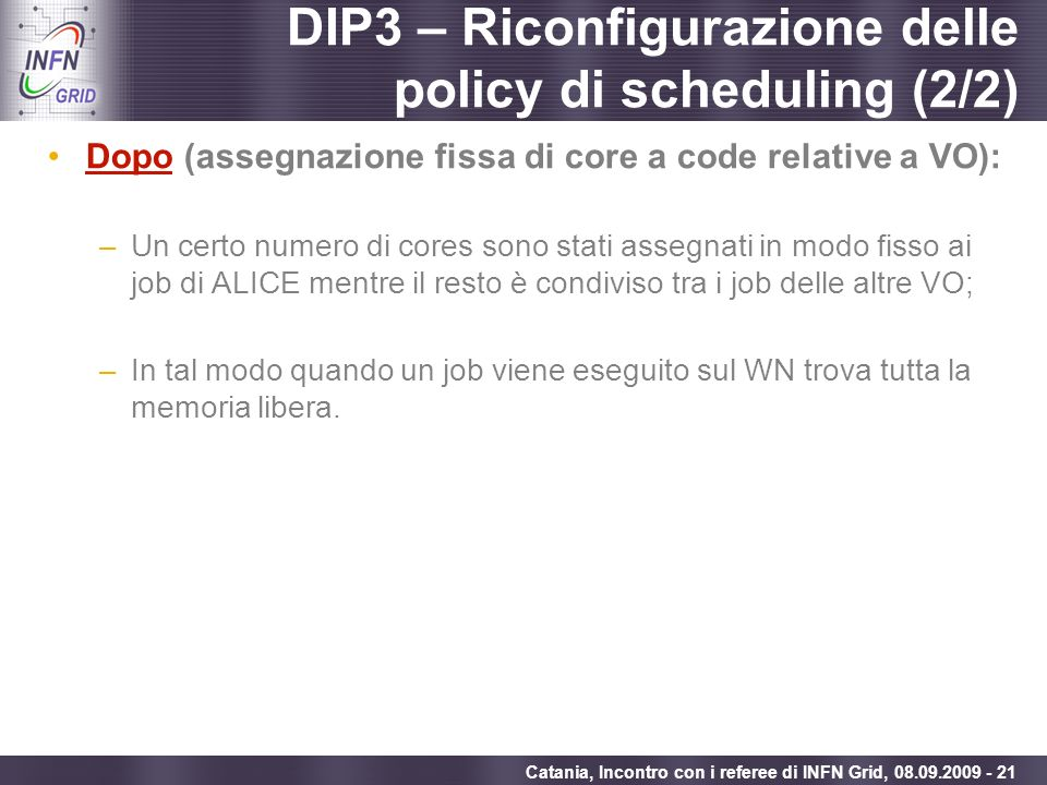 DIP3 – Riconfigurazione delle policy di scheduling (2/2)