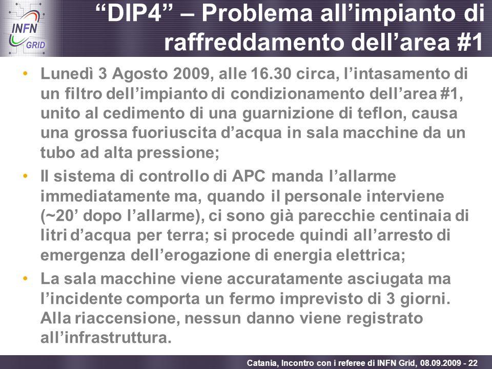DIP4 – Problema all'impianto di raffreddamento dell'area #1