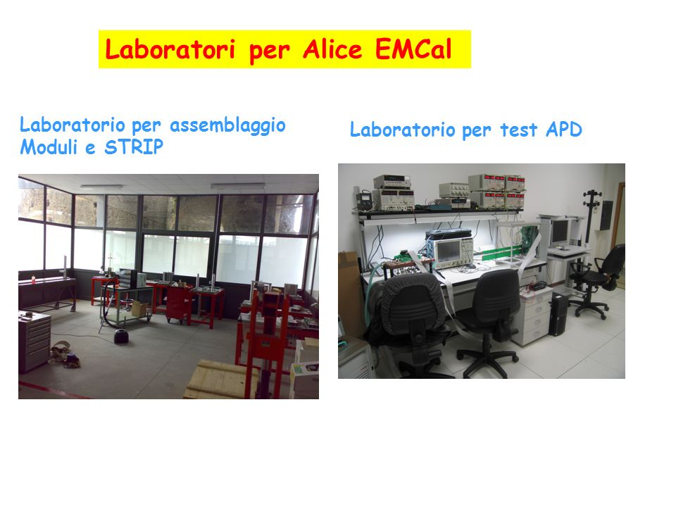 Laboratori per Alice EMCal