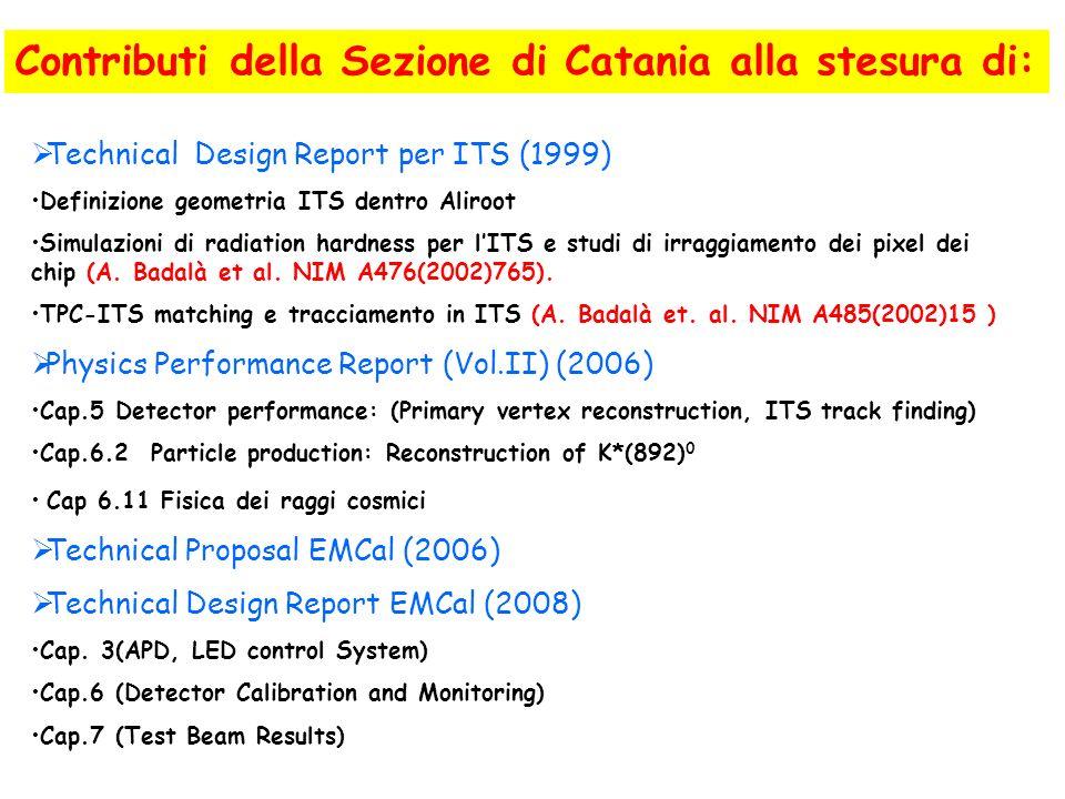 Contributi della Sezione di Catania alla stesura di: