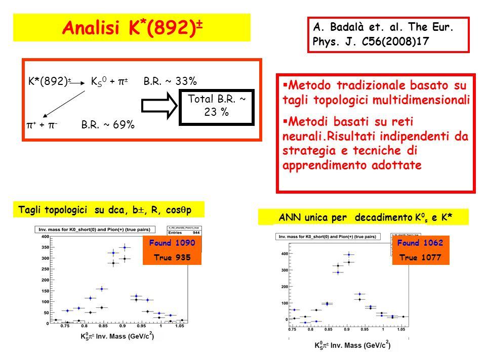ANN unica per decadimento K0s e K*