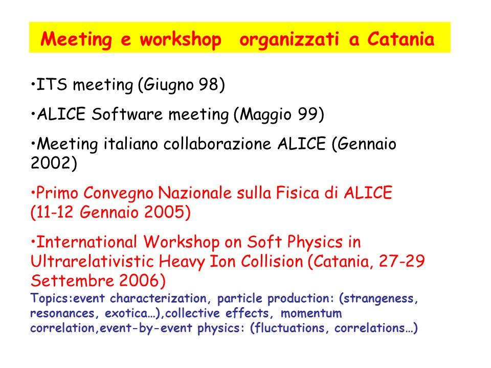 Meeting e workshop organizzati a Catania
