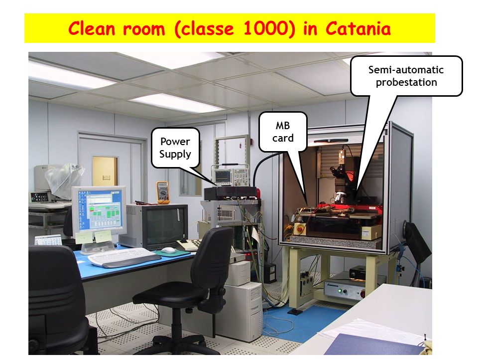 Clean room (classe 1000) in Catania