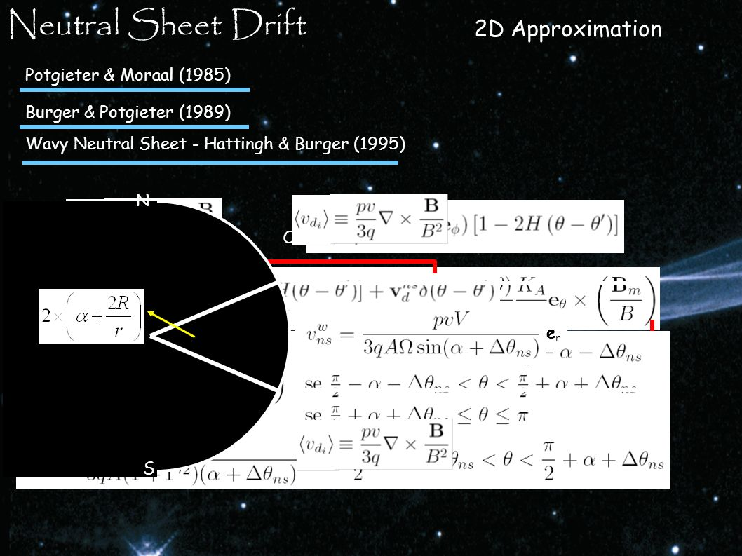 Neutral Sheet Drift 2D Approximation Potgieter & Moraal (1985)