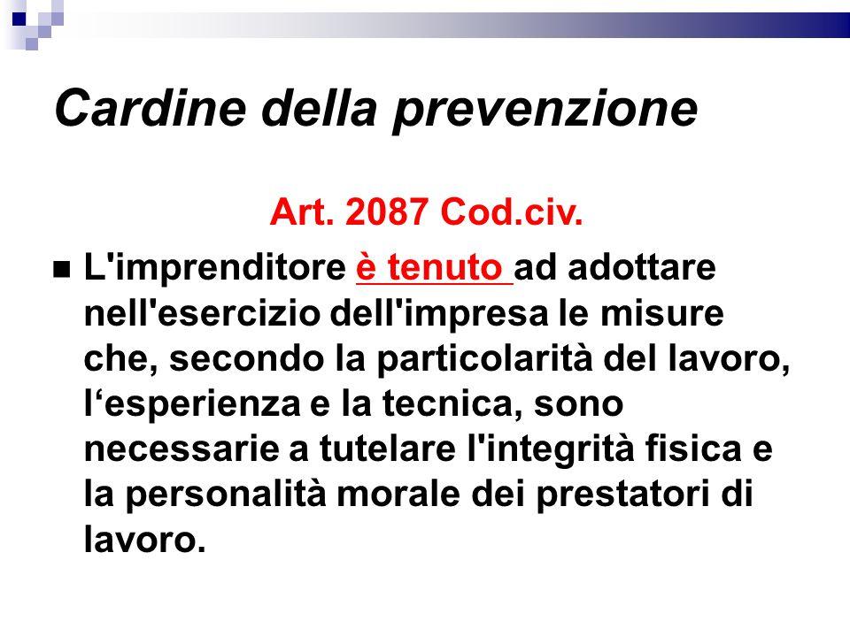 Cardine della prevenzione