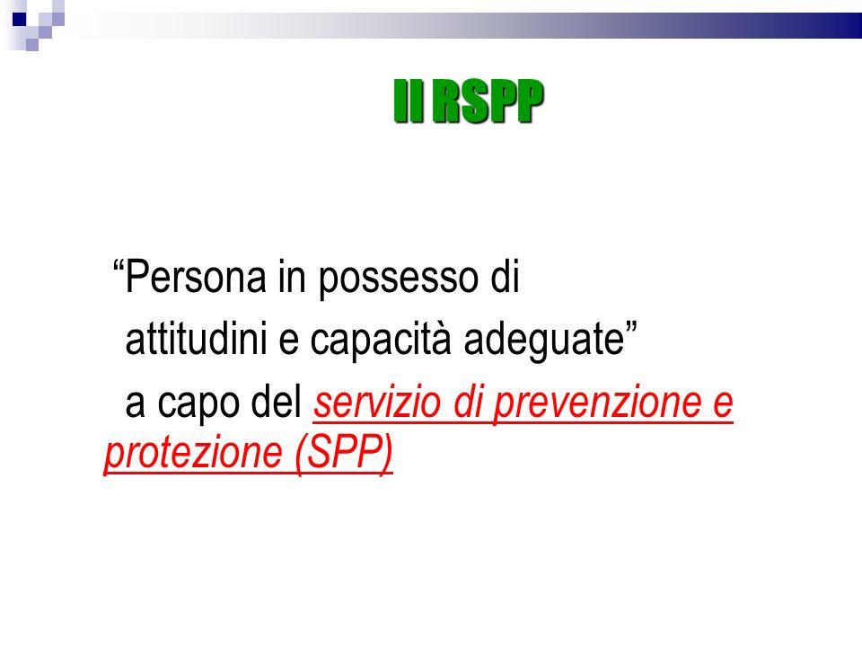 Il RSPP attitudini e capacità adeguate
