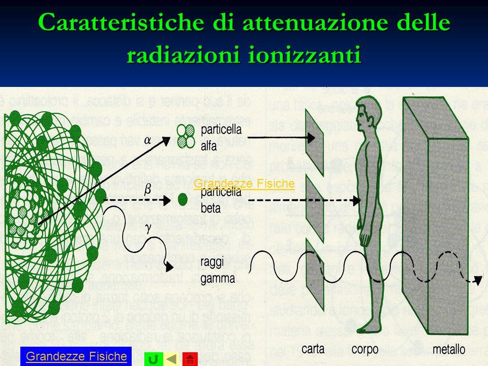 Caratteristiche di attenuazione delle radiazioni ionizzanti