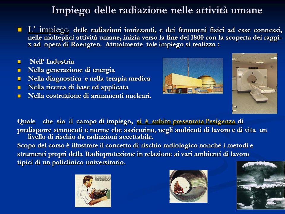 Impiego delle radiazione nelle attività umane