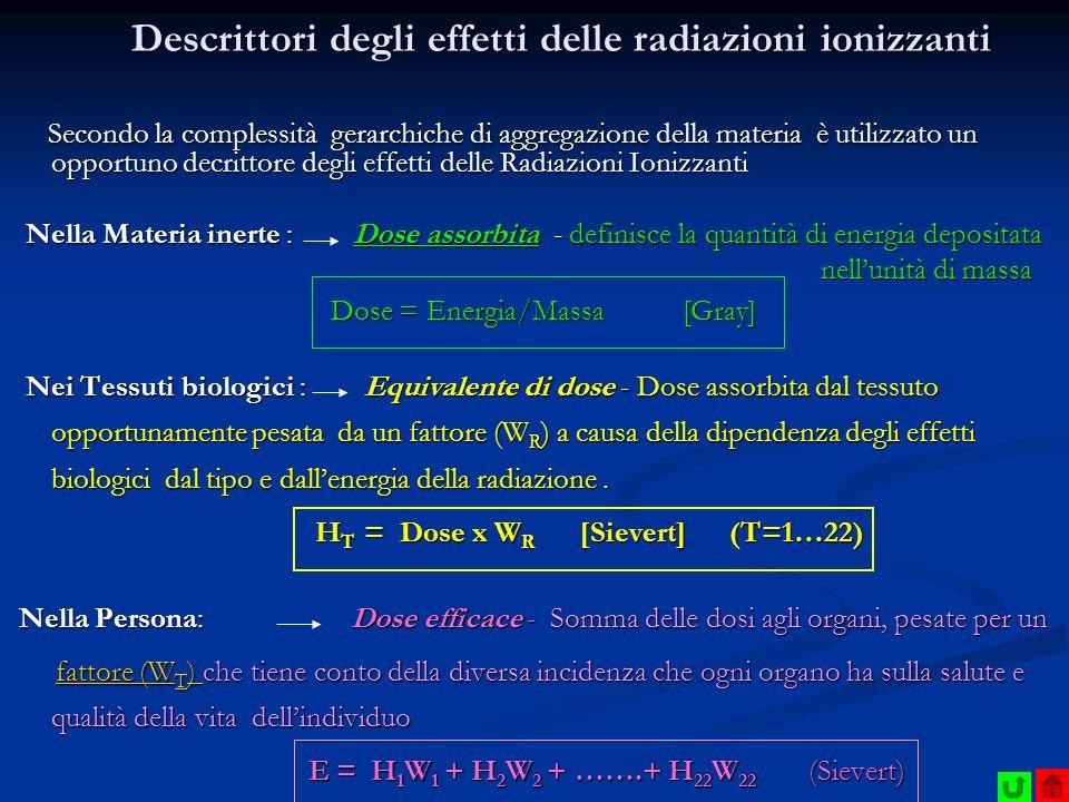 Descrittori degli effetti delle radiazioni ionizzanti