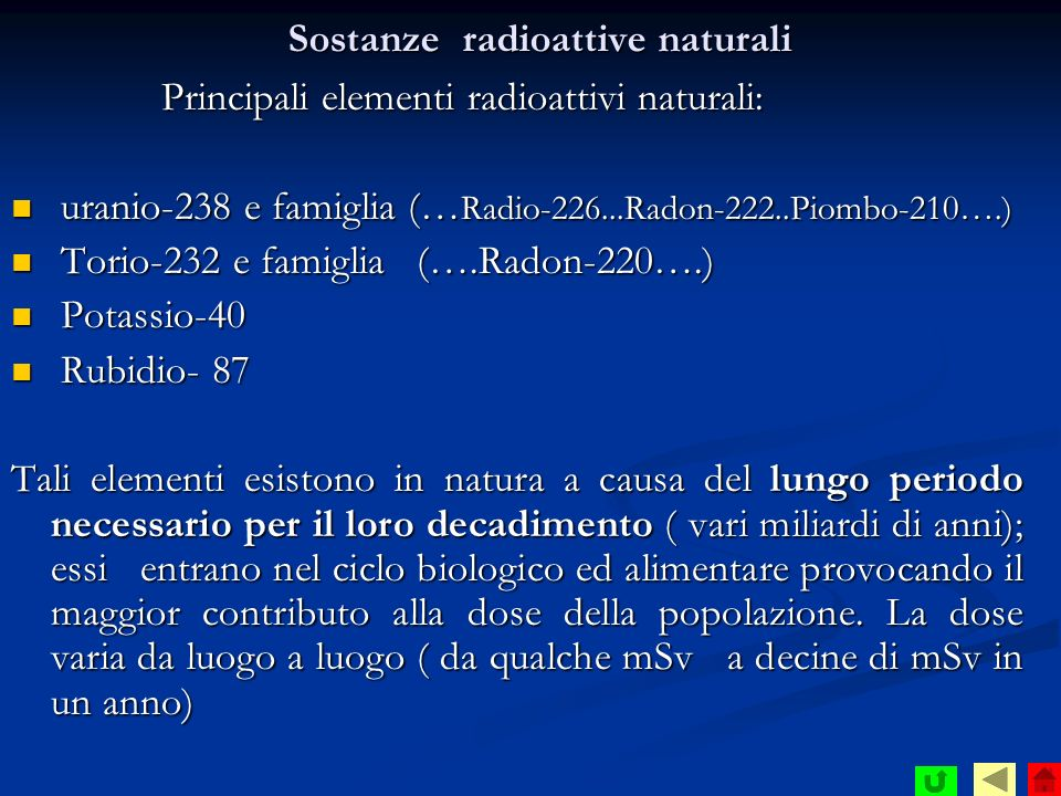 Sostanze radioattive naturali