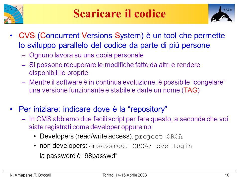 Scaricare il codice CVS (Concurrent Versions System) è un tool che permette lo sviluppo parallelo del codice da parte di più persone.