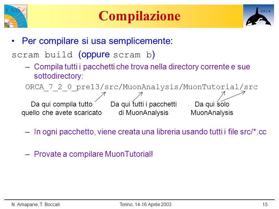 Compilazione Per compilare si usa semplicemente: