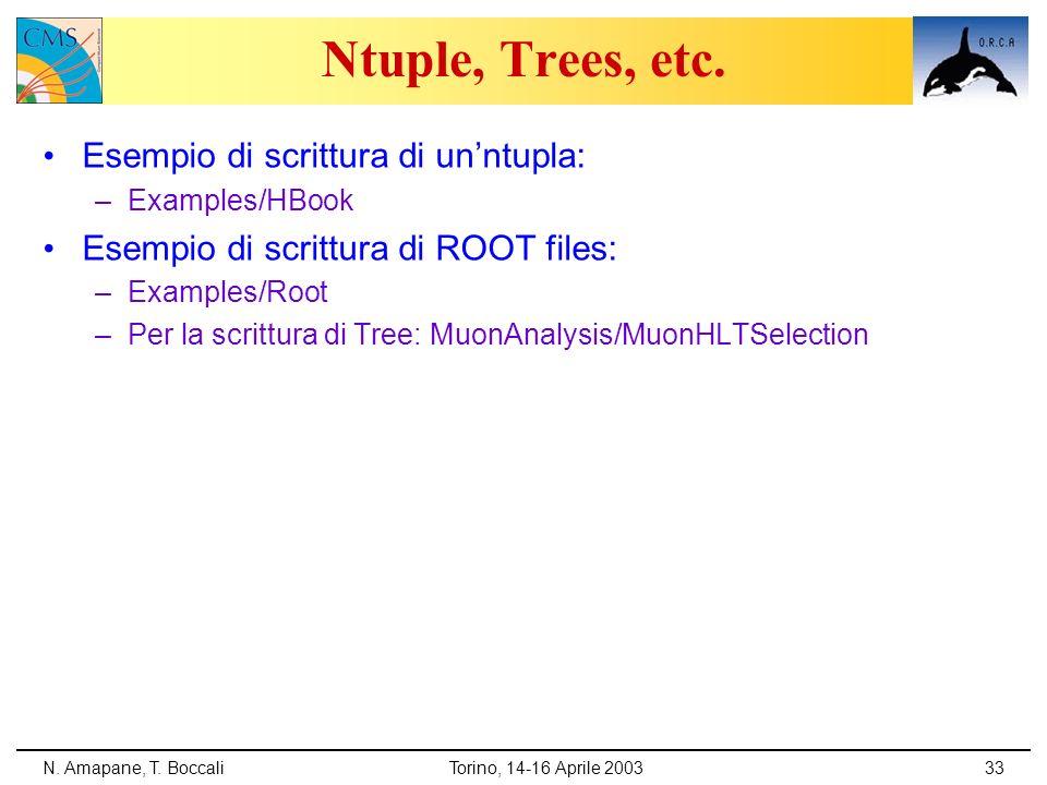 Ntuple, Trees, etc. Esempio di scrittura di un'ntupla: