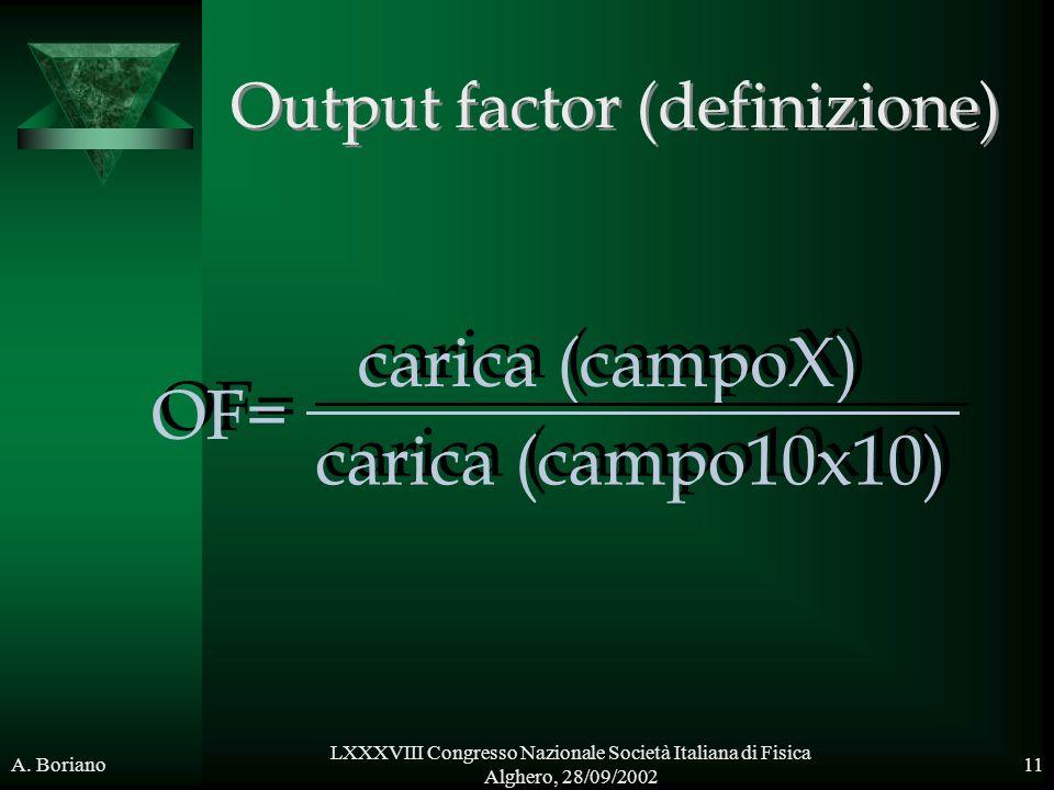 Output factor (definizione)