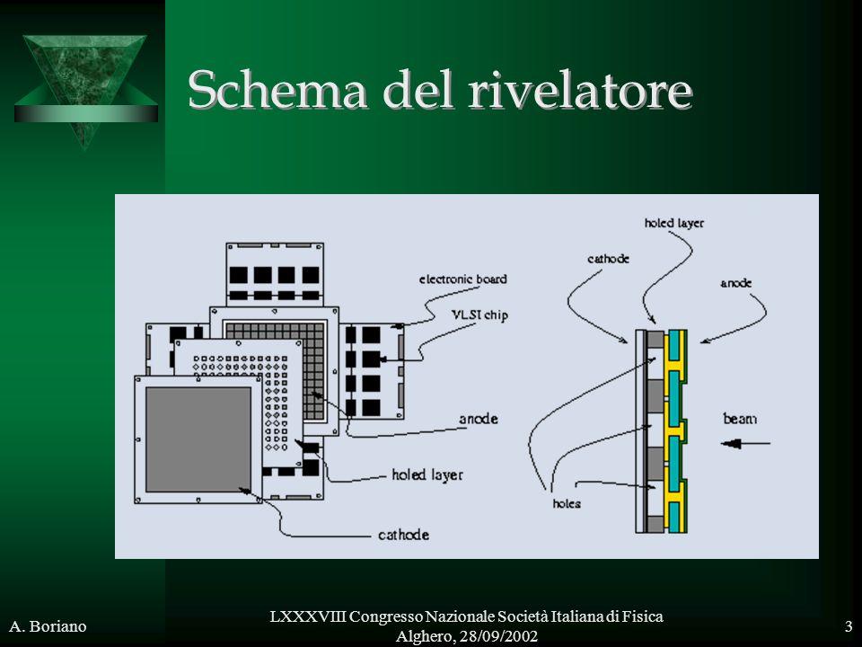 Schema del rivelatore Parlaer bene del fatto che e' a facce piane parallele e non passarci troppo tempo su.
