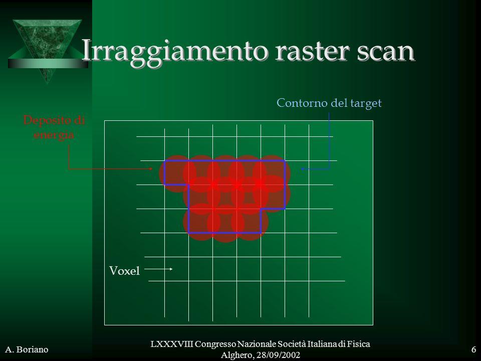 Irraggiamento raster scan