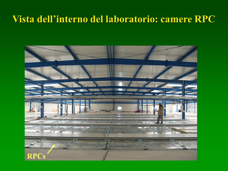 Vista dell'interno del laboratorio: camere RPC