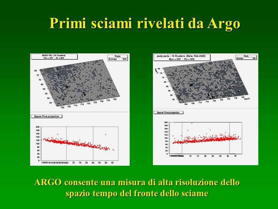 Primi sciami rivelati da Argo