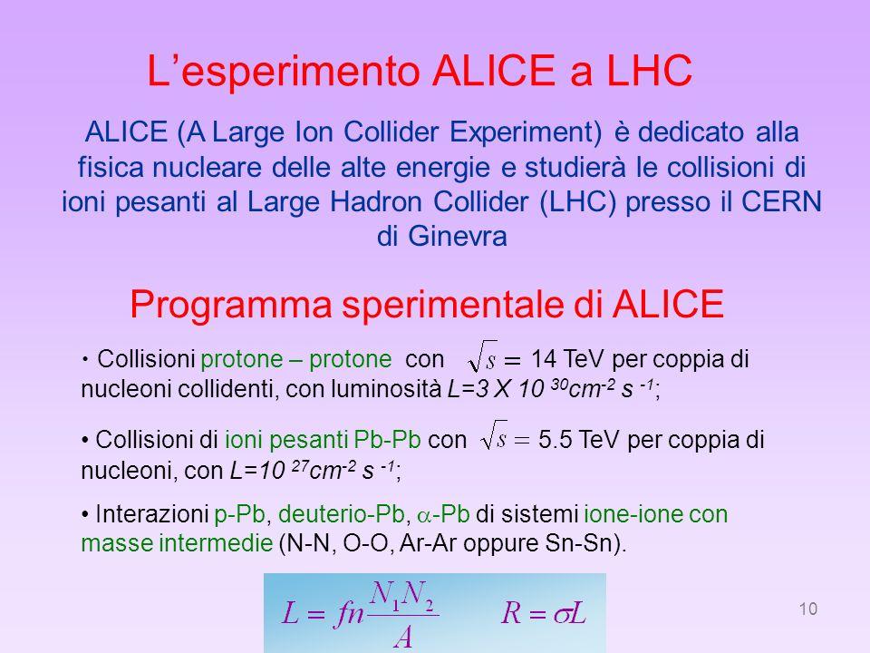 L'esperimento ALICE a LHC