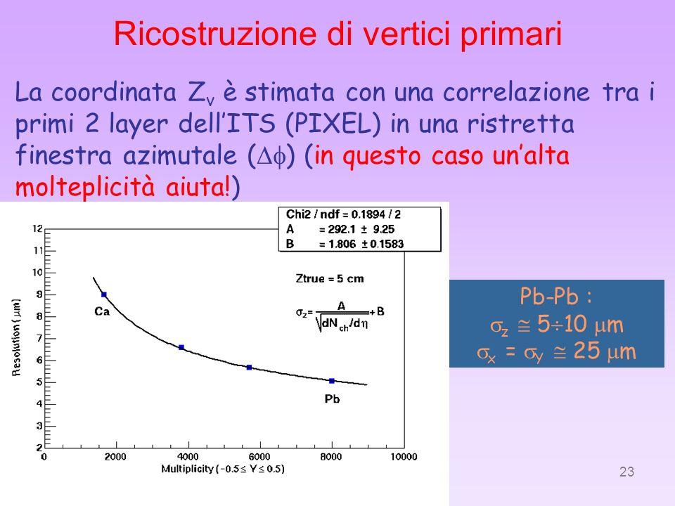 Ricostruzione di vertici primari