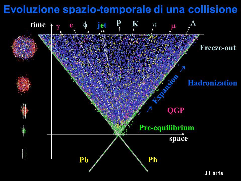 Evoluzione spazio-temporale di una collisione
