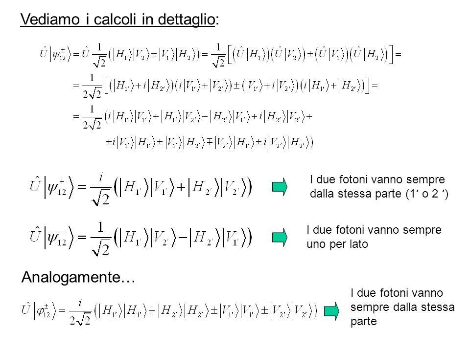 Vediamo i calcoli in dettaglio: