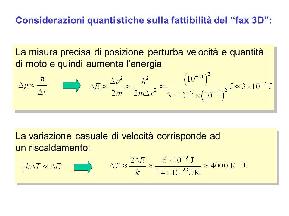 Considerazioni quantistiche sulla fattibilità del fax 3D :
