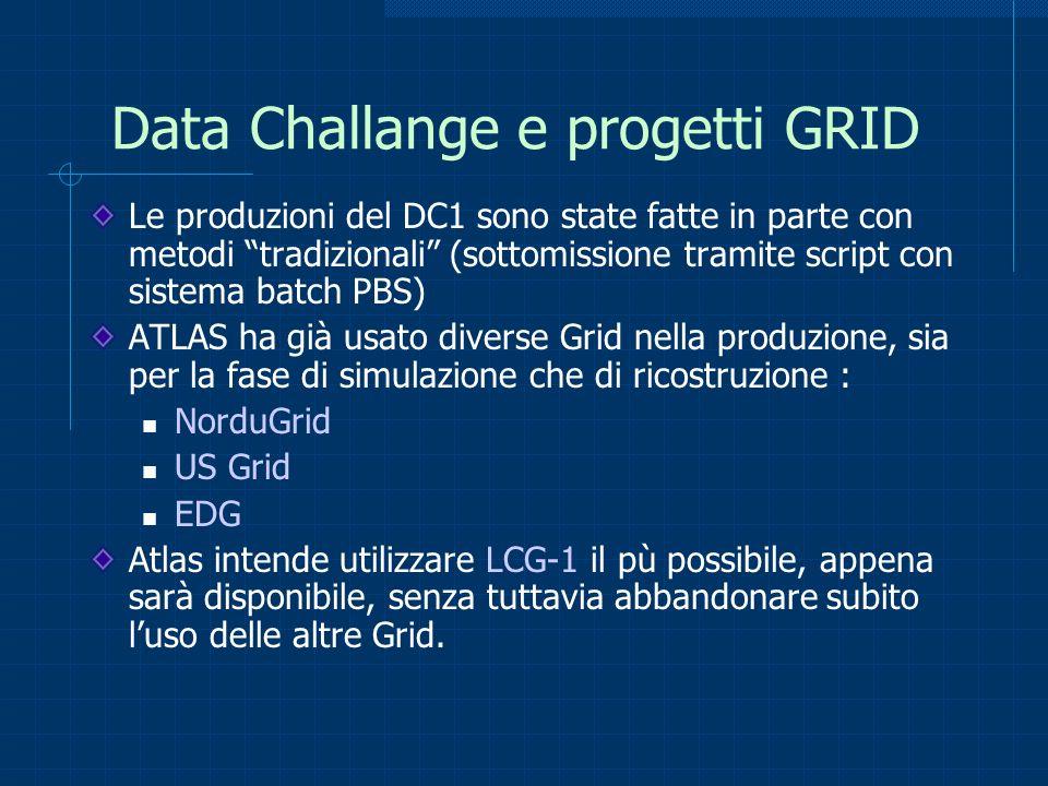Data Challange e progetti GRID