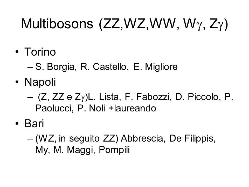Multibosons (ZZ,WZ,WW, Wg, Zg)