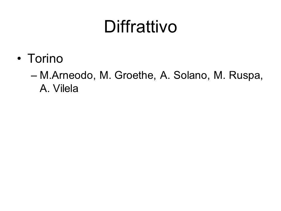 Diffrattivo Torino M.Arneodo, M. Groethe, A. Solano, M. Ruspa, A. Vilela