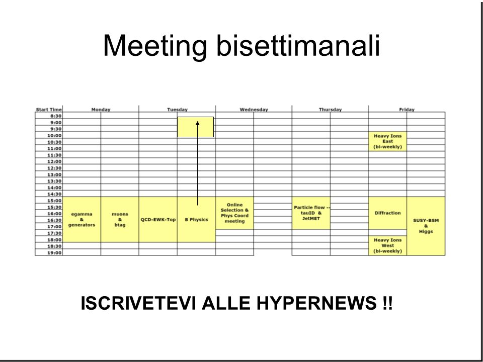 Meeting bisettimanali