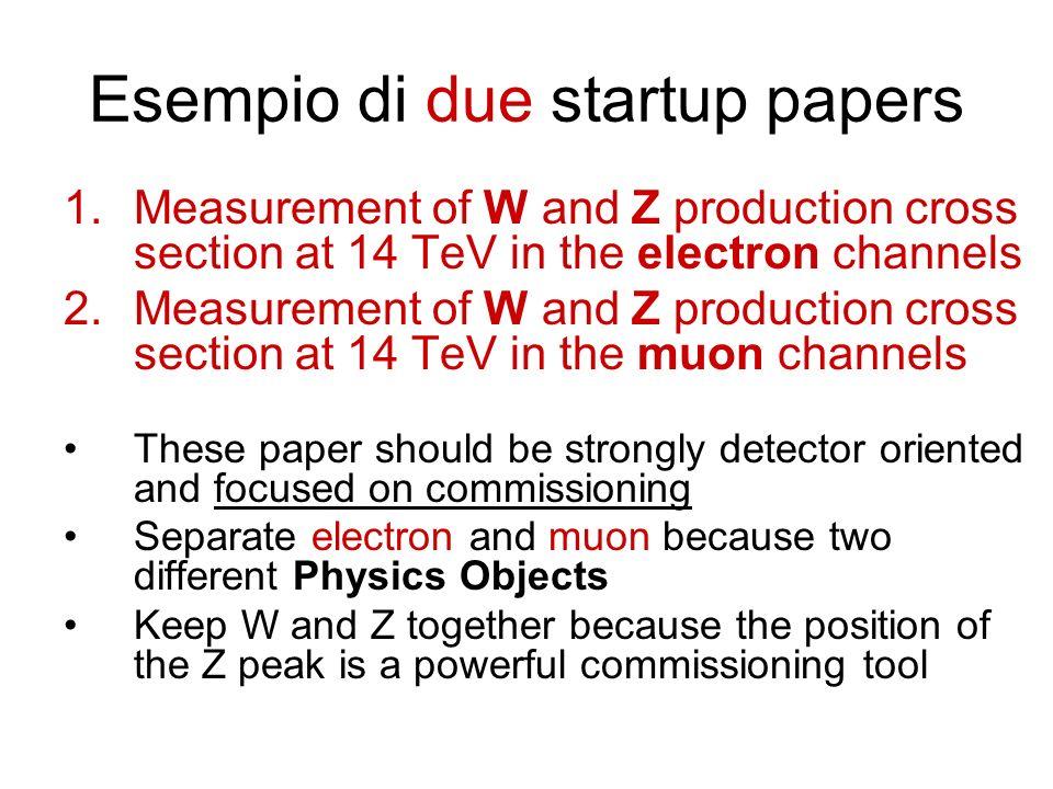 Esempio di due startup papers