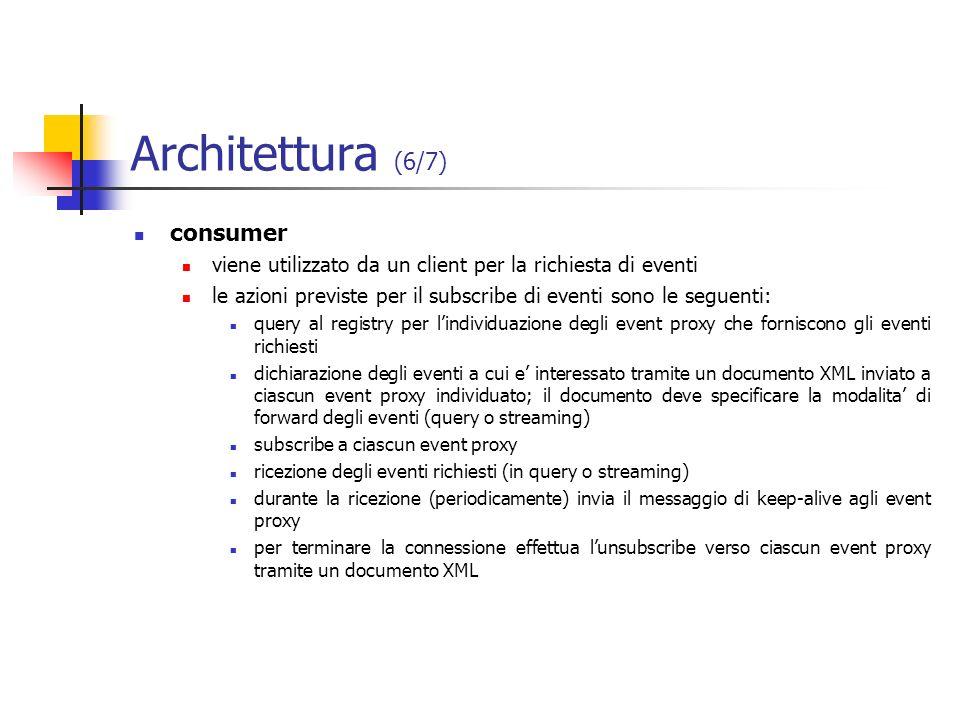 Architettura (6/7) consumer