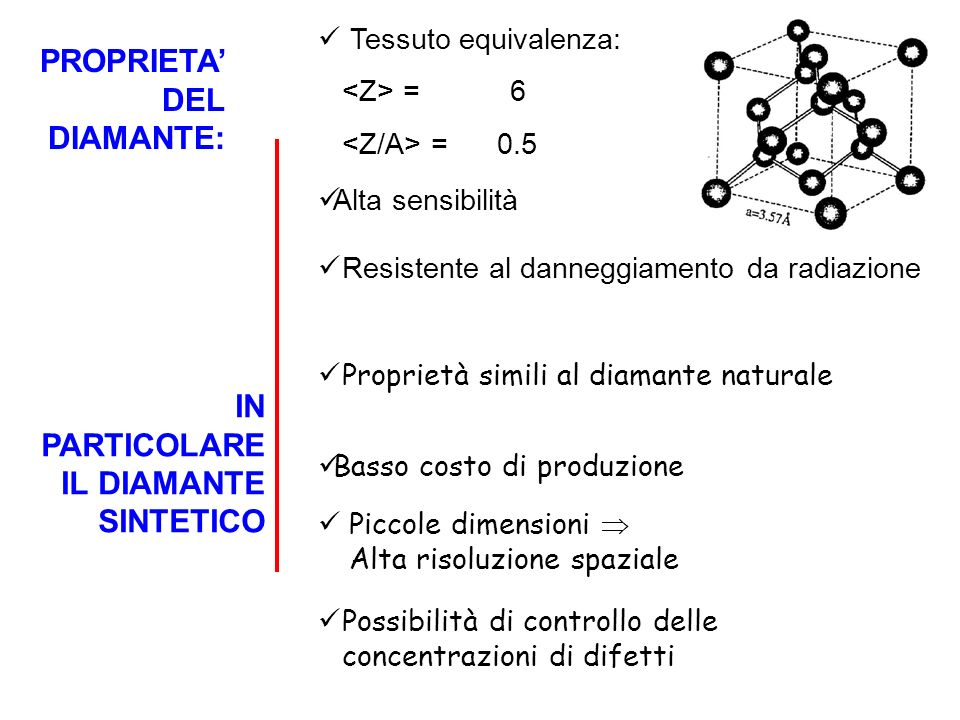 PROPRIETA' DEL DIAMANTE: