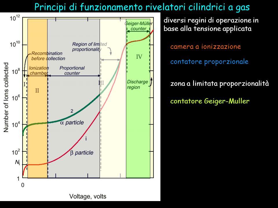 Principi di funzionamento rivelatori cilindrici a gas