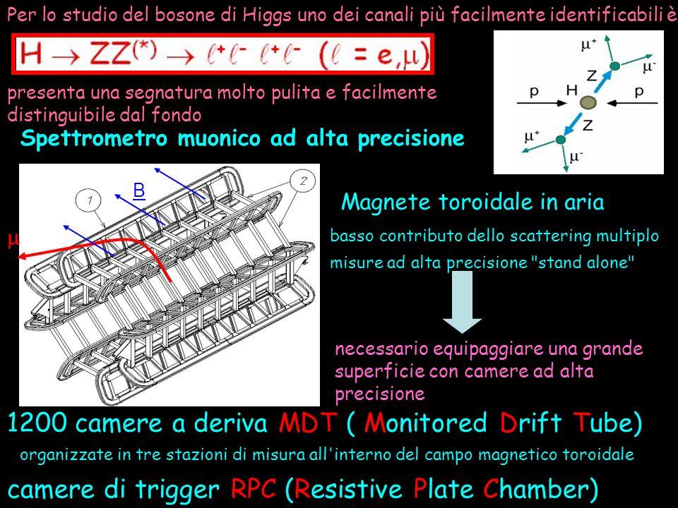 1200 camere a deriva MDT ( Monitored Drift Tube)