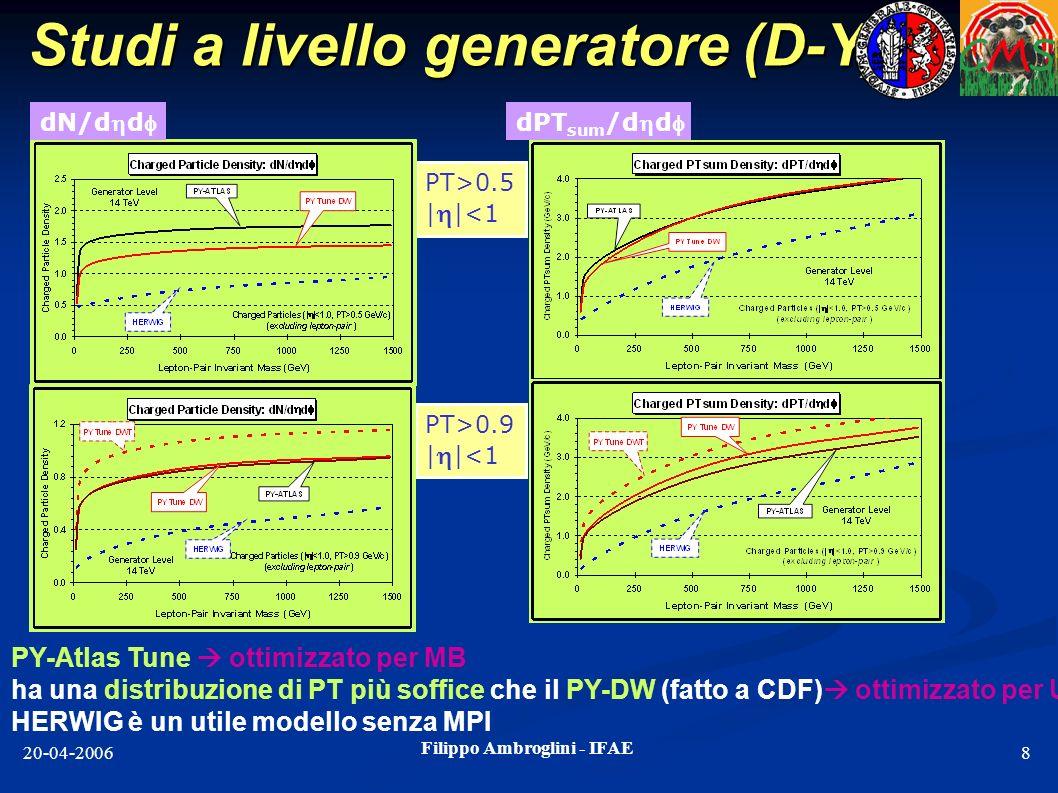 Studi a livello generatore (D-Y)