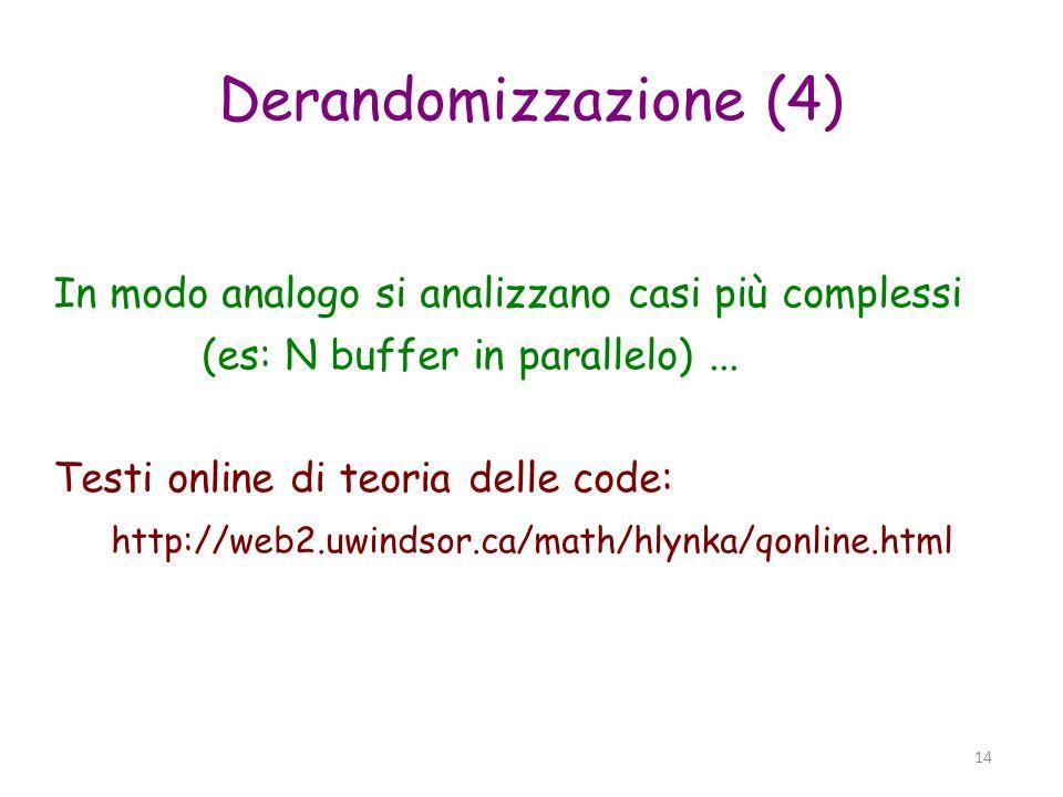 Derandomizzazione (4)