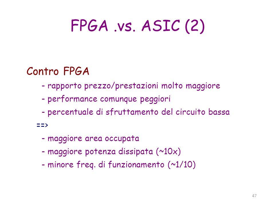 FPGA .vs. ASIC (2) Contro FPGA