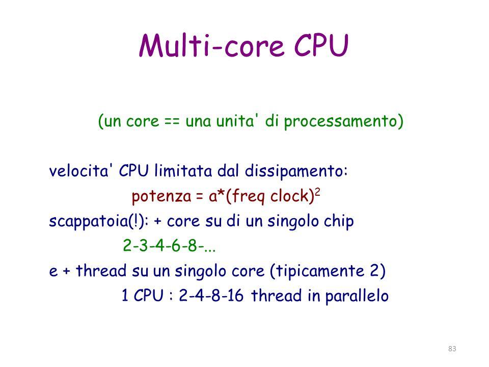 (un core == una unita di processamento)