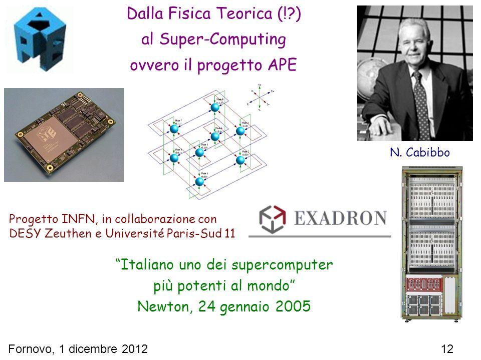 Dalla Fisica Teorica (! ) al Super-Computing ovvero il progetto APE