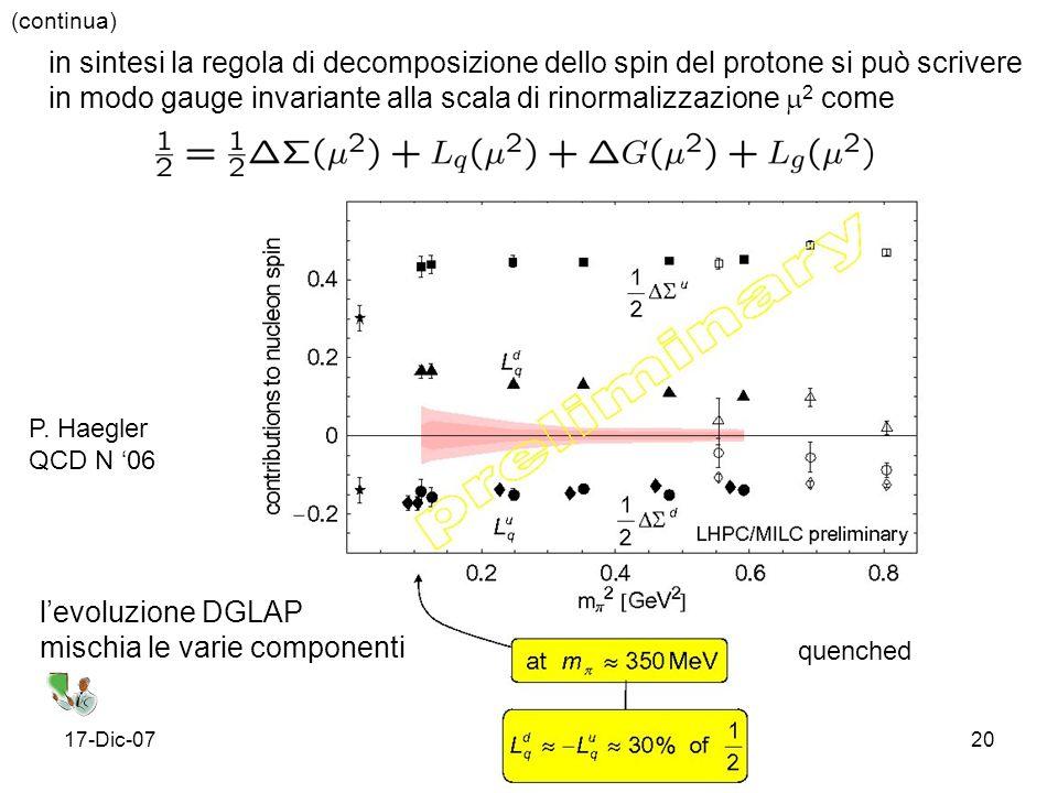 in modo gauge invariante alla scala di rinormalizzazione 2 come